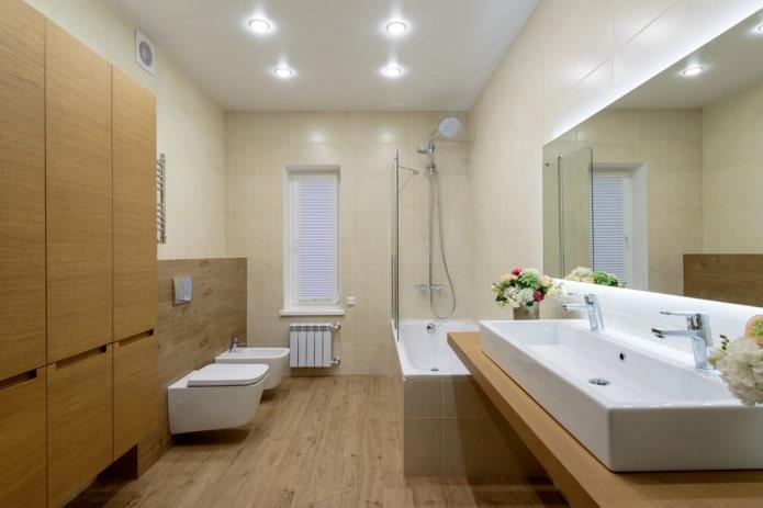 Освещение в ванной комнате: фото различных вариантов