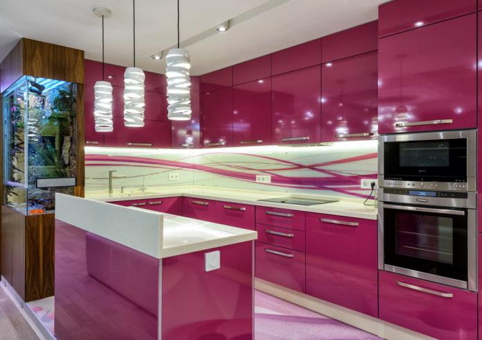Розовая кухня: подборка фото, удачные сочетания и идеи дизайна