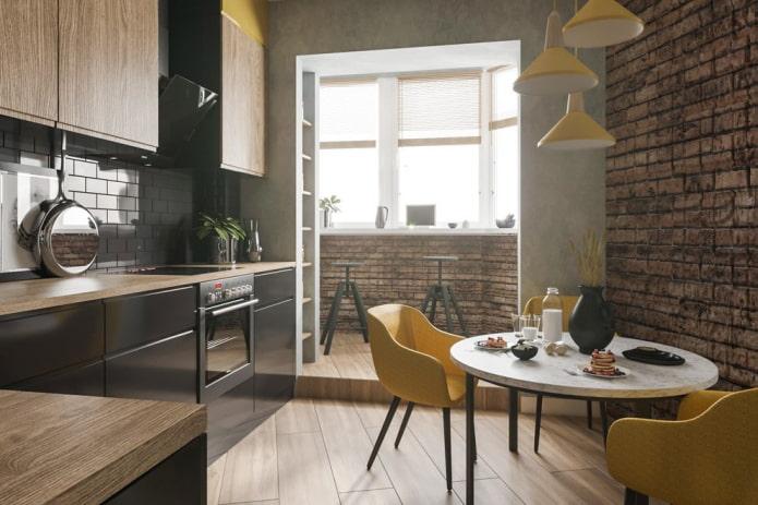 Дизайн кухни совмещенной с балконом: фото в интерьере, идеи обустройства