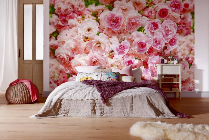 Фотообои с цветами в интерьере: живой декор стен в вашей квартире
