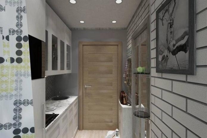 Как сделать кухню в коридоре и прихожей?