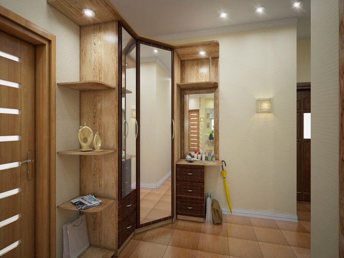 Угловая прихожая в коридор: фото в интерьере, примеры для маленькой площади
