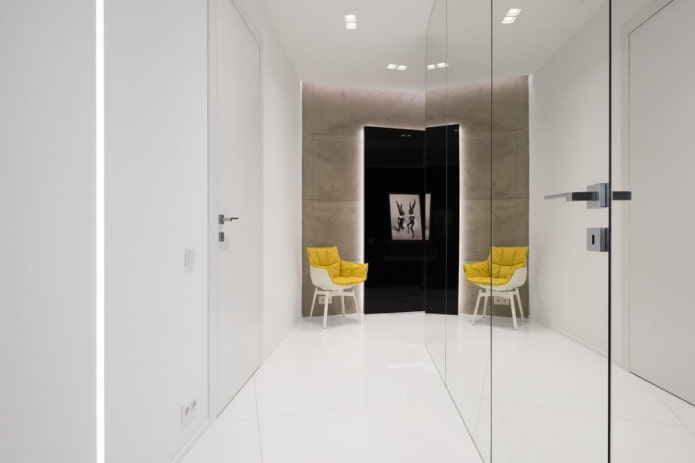Особенности дизайна коридора и прихожей в стиле минимализм