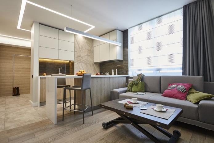 Кухня-гостиная 16 кв м – гид по дизайну