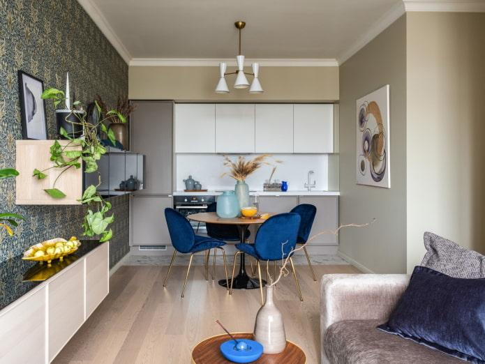 Кухня-гостиная 25 кв м – обзор лучших решений