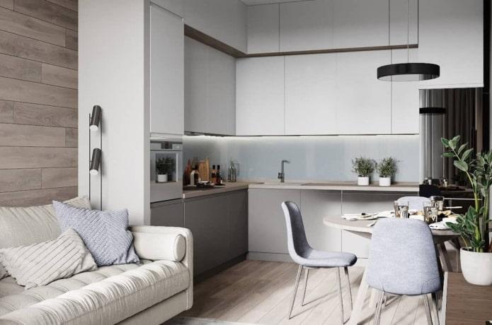 Лучшие фото и идеи дизайна кухни-гостиной 15 кв. м.