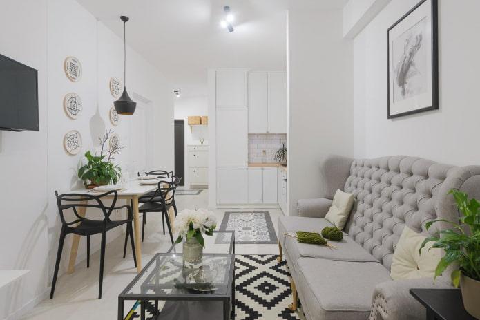 Как оформить дизайн интерьера кухни-гостиной 17 кв м?