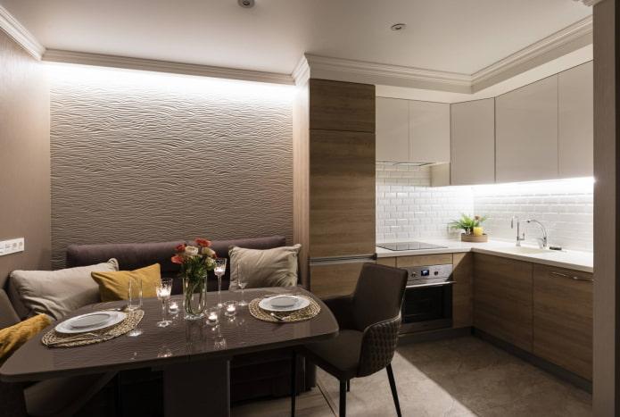 Кухня-гостиная 14 кв м  – фото обзор лучших решений