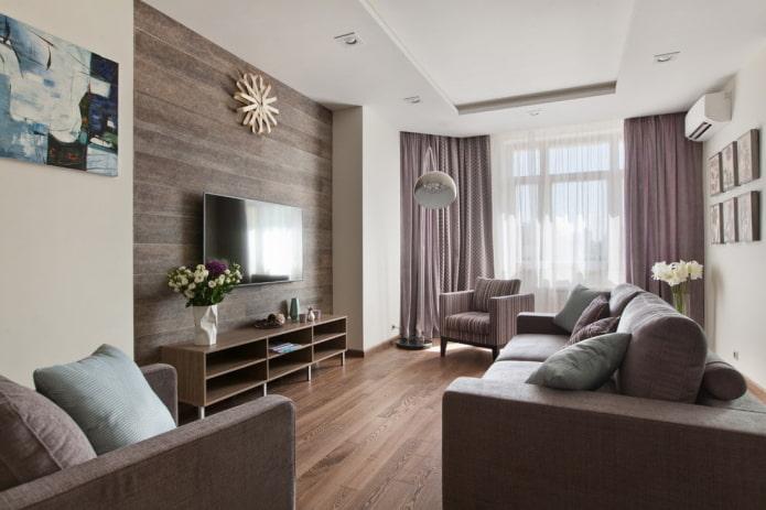 Как оформить дизайн интерьера гостиной 20 кв м?