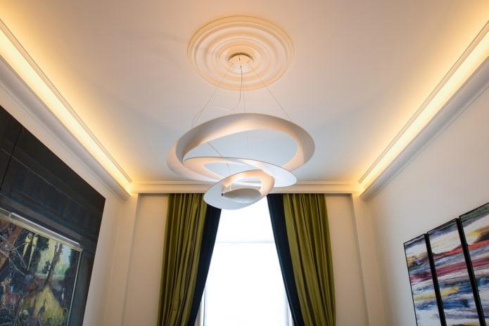 Как выбрать люстры для натяжных потолков? (50 фото)