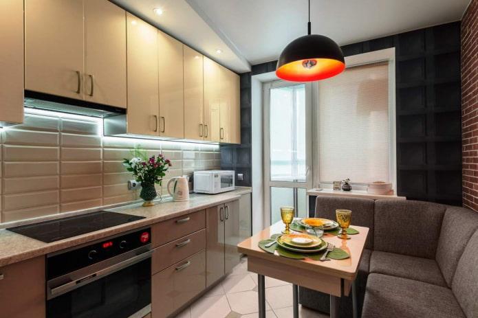 Как обустроить кухню 9 кв м? (лучший дизайн, 62 фото)