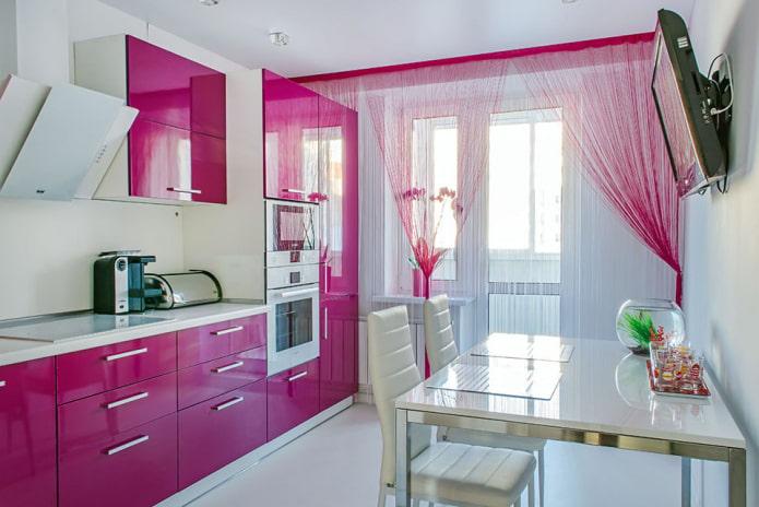 Нитяные шторы на кухню: 40 фото с лучшими идеями