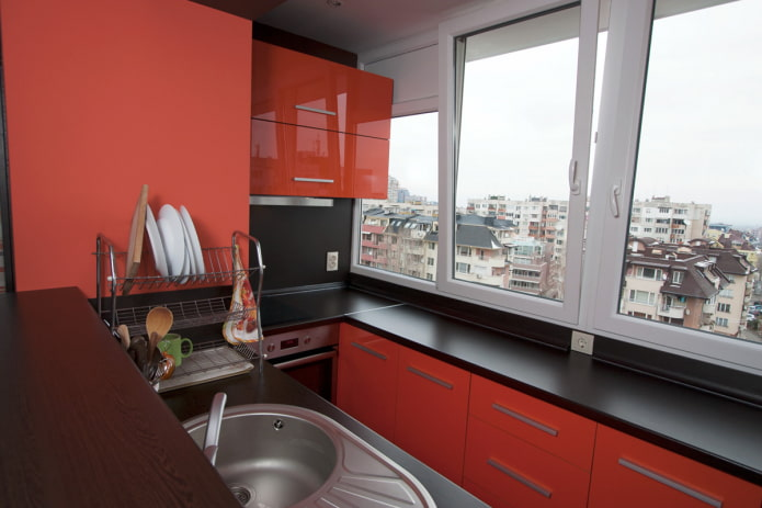 Кухня на балконе: примеры дизайна и 36 фото