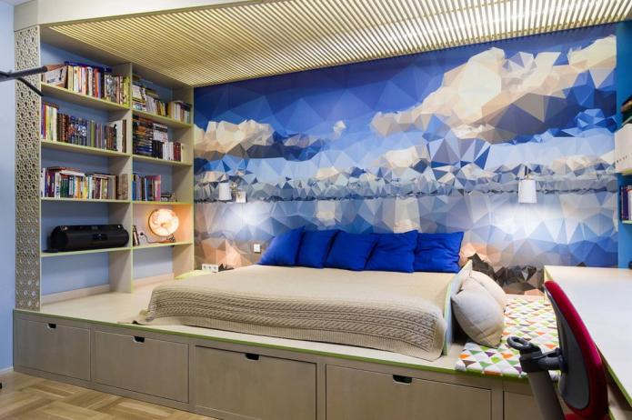 Кровать-подиум: обзор лучших решений, 45 фото в интерьере