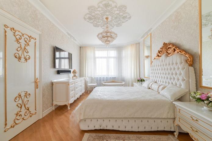 Как оформить спальню в классическом стиле? (35 фото)