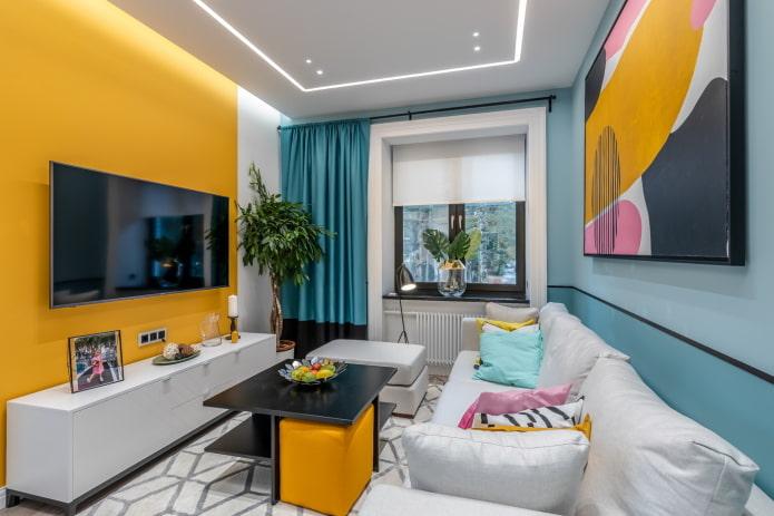 Дизайн гостиной 17 кв м – советы по оформлению и фото в интерьере