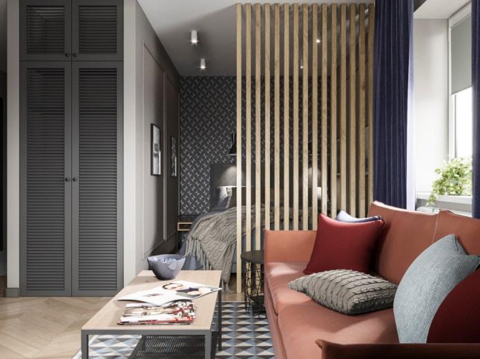 Проект стильной квартиры 35 квадратов в Ярославле