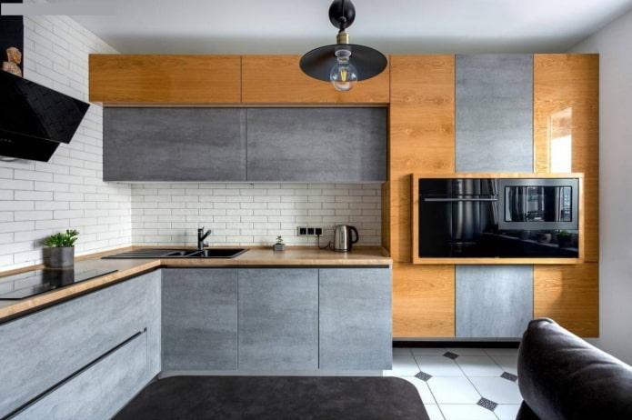Кухня без ручек: особенности, плюсы и минусы, виды и фото