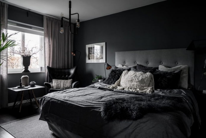 Как создать гармоничный дизайн темной спальни?