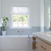 Ванная комната с окном: фото в интерьере и идеи дизайна