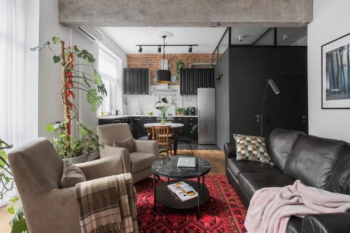 Преображение старой сталинки в стильную квартиру с элементами лофта