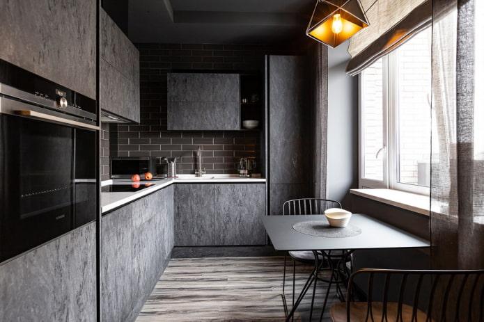 Особенности дизайна темной кухни