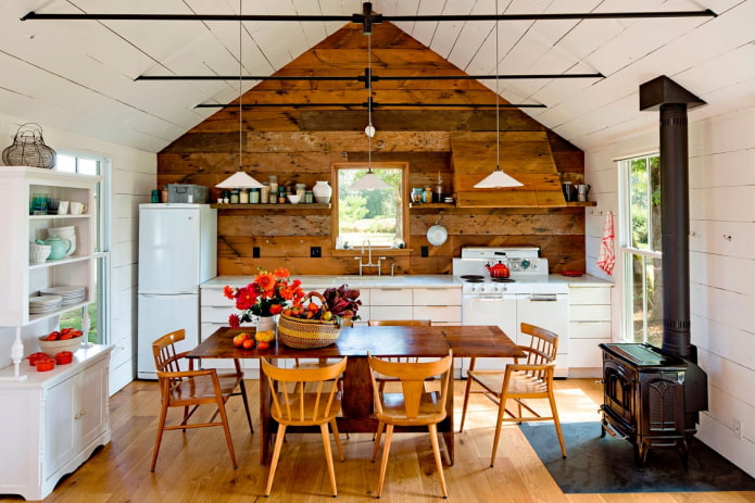 Как оформить интерьер кухни на даче?