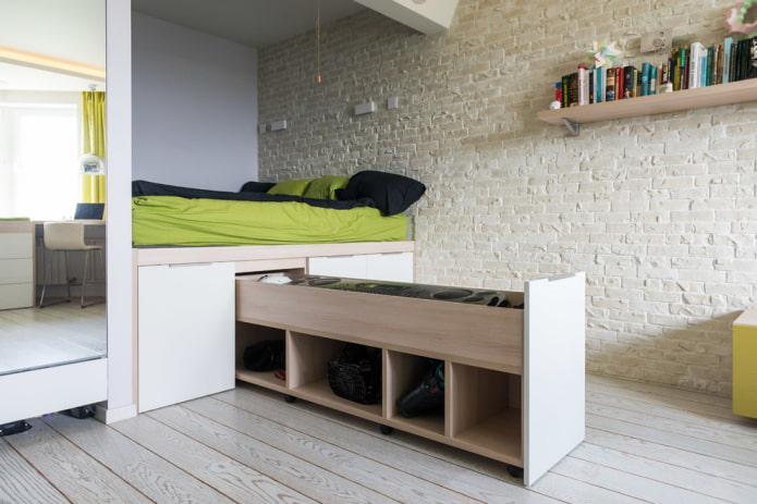 15 идей для хранения вещей в маленькой спальне