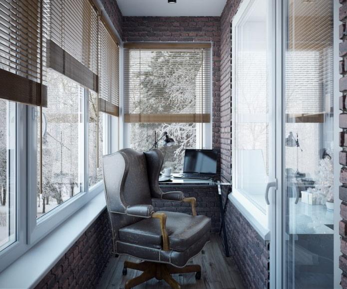 Фото и идеи оформления балкона в стиле лофт