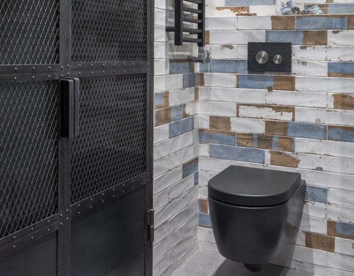 Как оформить туалет в стиле лофт?