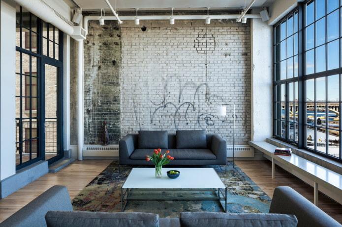 Какие материалы подойдут для отделки стен в стиле лофт?