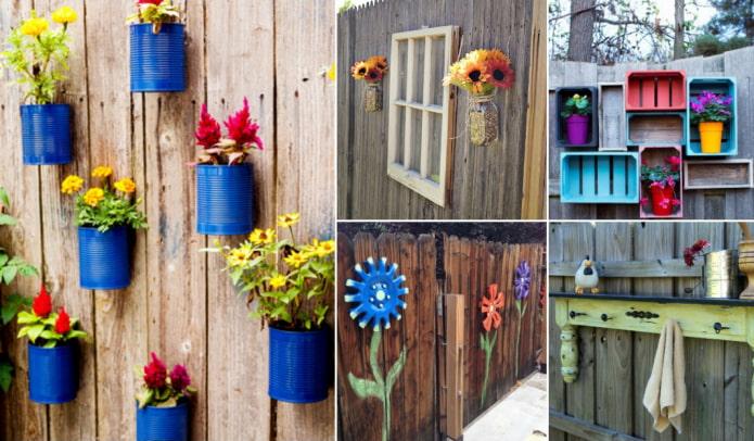 10 самых простых способов, как можно украсить некрасивый забор