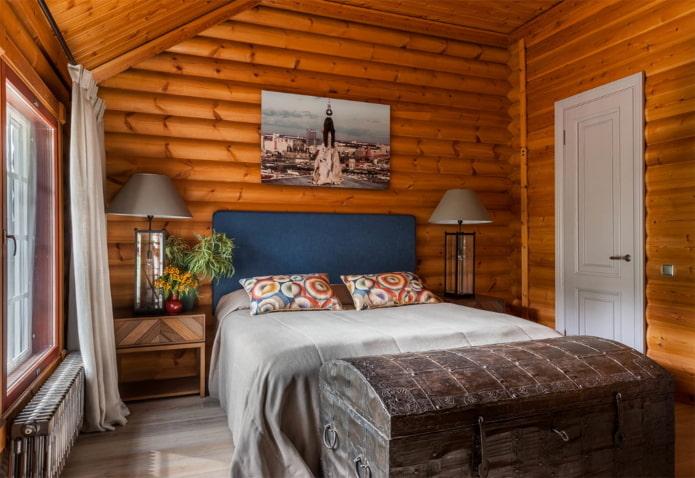 Как оформить интерьер спальни на даче?