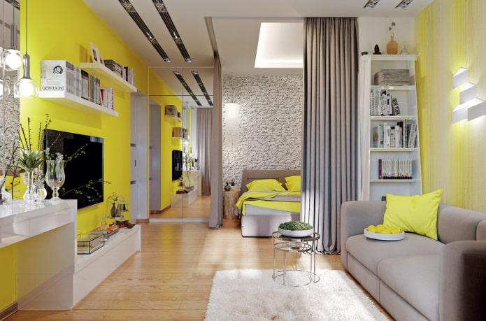 Как зонировать однокомнатную квартиру, чтобы все были довольны