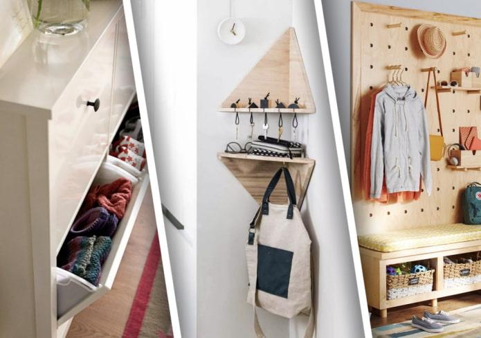Как хранить вещи в маленькой прихожей?