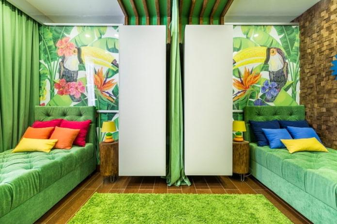 Способы зонирования детской комнаты