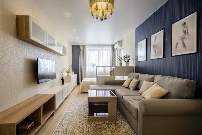 Как оформить узкую комнату?