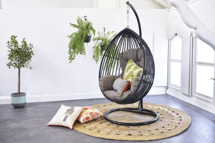 Как выбрать и использовать подвесное кресло в интерьере?