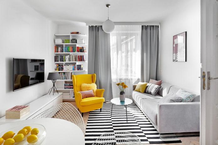 Дизайн гостиной ИКЕА