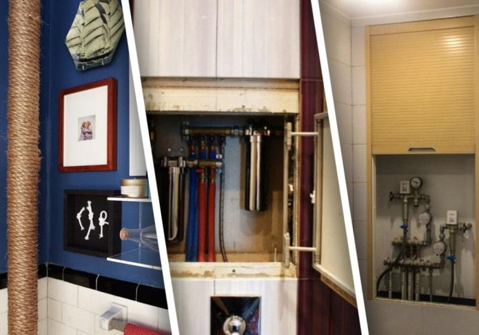 Как скрыть трубы в ванной комнате?