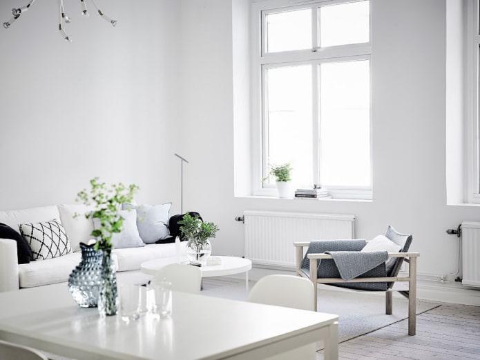 Как оформить интерьер в белом цвете?