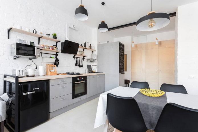 Как обустроить кухню площадью 13 кв м?