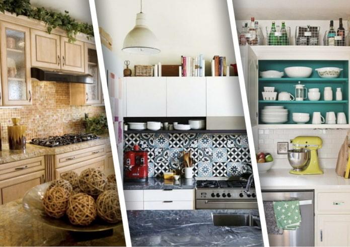 Как эффективно заполнить пространство над кухонными шкафами?