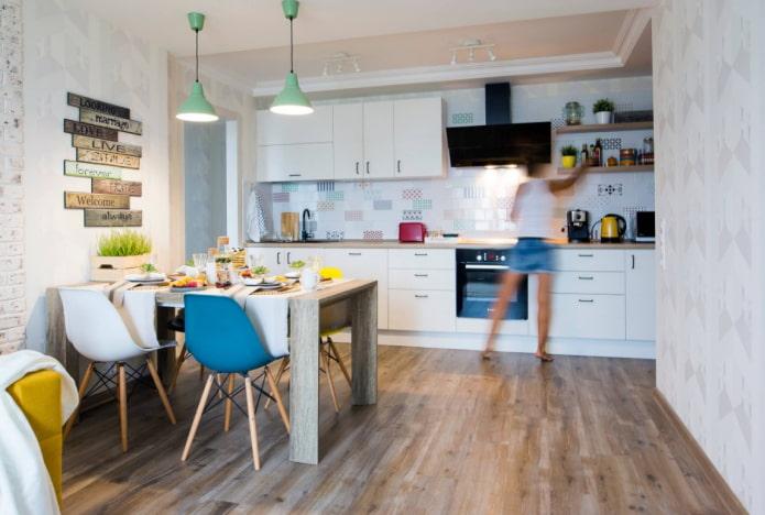 Как выбрать и использовать ламинат на кухне?