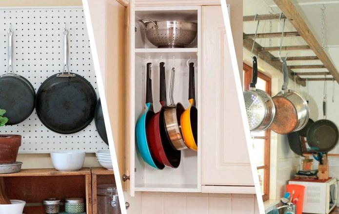 Как хранить сковородки?