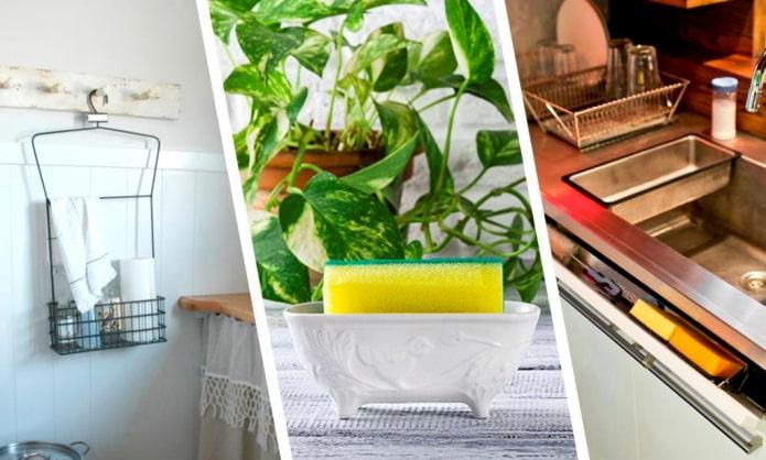 Как хранить губку для мытья посуды?