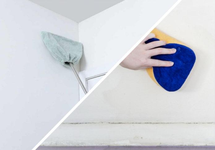 Как отмыть окрашенные стены?