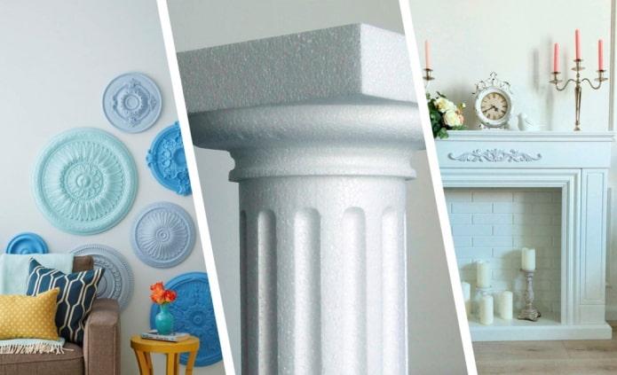 Как украсить интерьер пенопластовым декором?