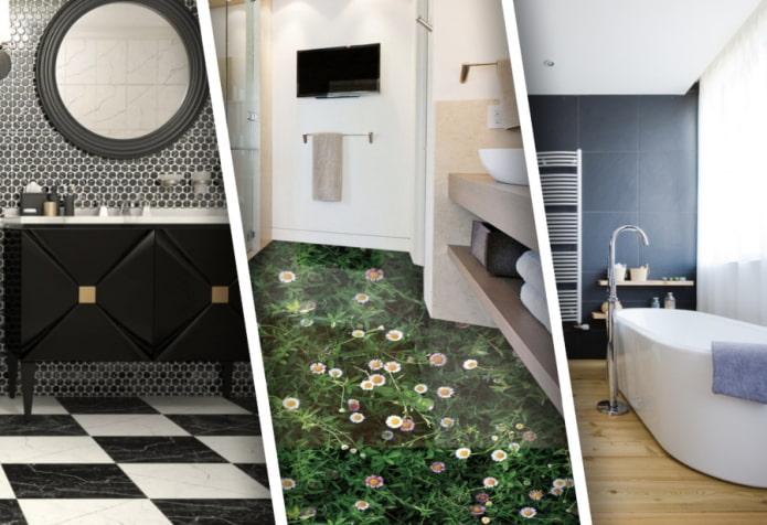 Пол для ванной комнаты – обзор лучших напольных покрытий