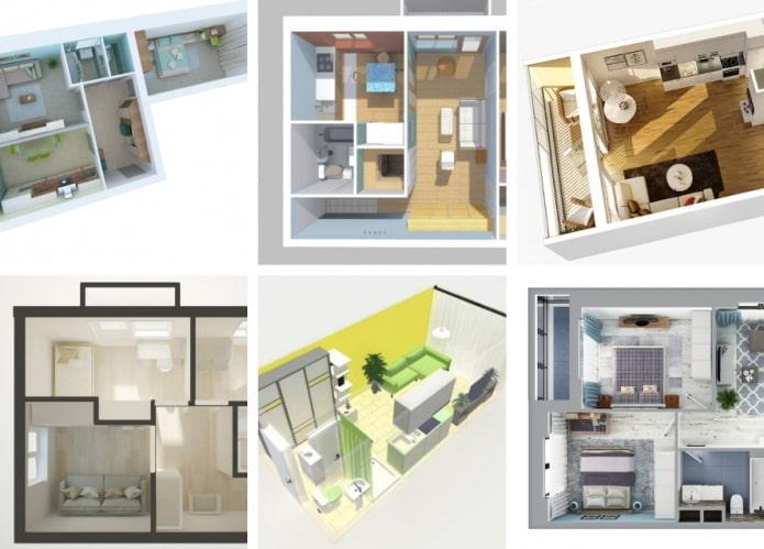 Самые популярные планировки квартир